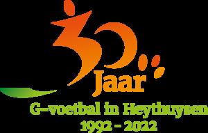 logo 30 jaar G-voetbal bij S.V. Heythuysen